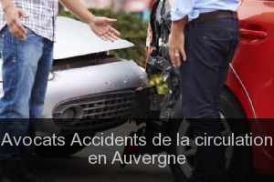 Avocats Accidents de la circulation en Auvergne